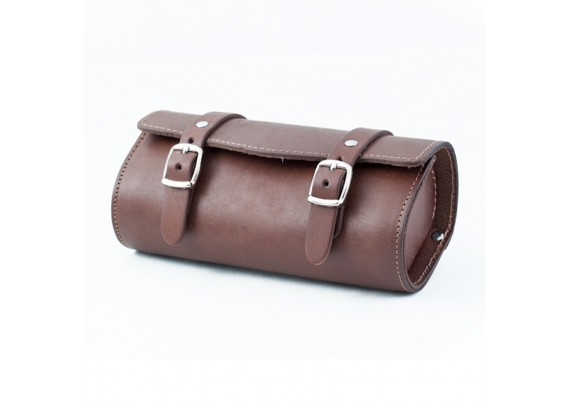 Brown leather bag SB-05 by Gyes