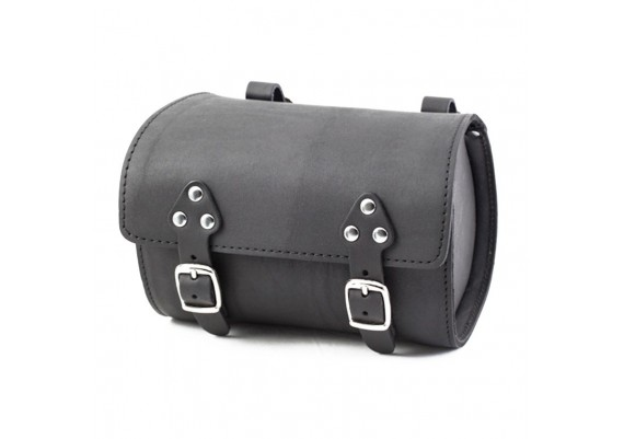 Black leather bag SB-07 by Gyes