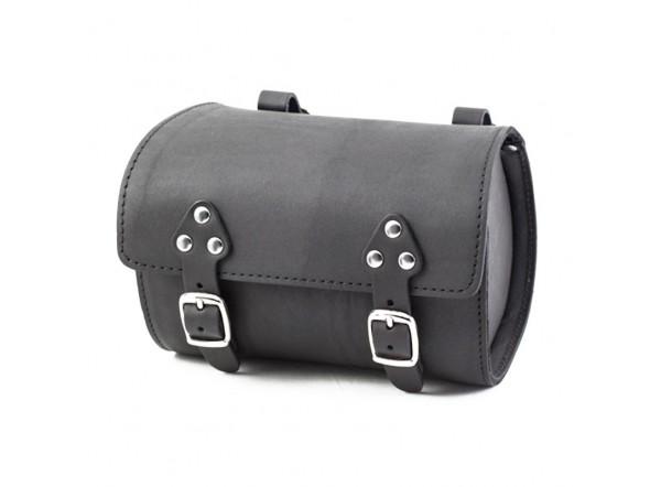 Black leather bag SB-07 by Gyes