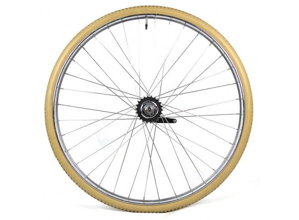 Rear wheel with S2C hub from Sturmey Archer