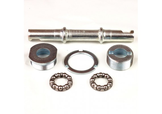 Bottom bracket set with axle, cups and bearings