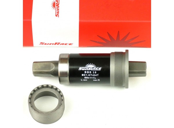 Eje pedalier Sunrace 111mm.