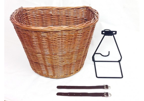 Basket for bicycles with rod brakes