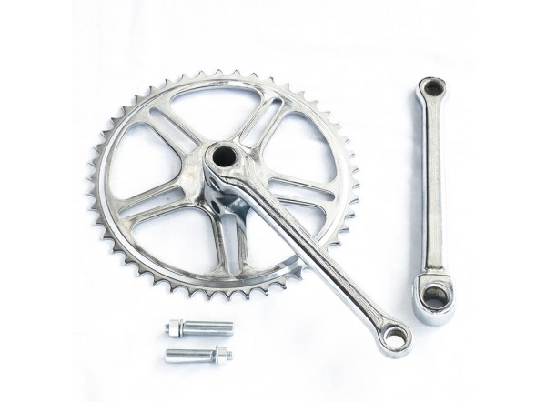 Set of 46 teeth chainring and crank arms