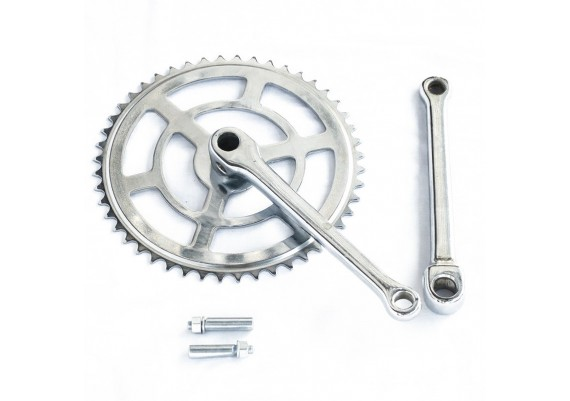 Set of 48 teeth chainring and crank arms