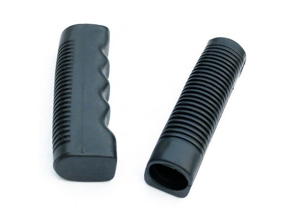 Fluted rubber grips (2 pcs)