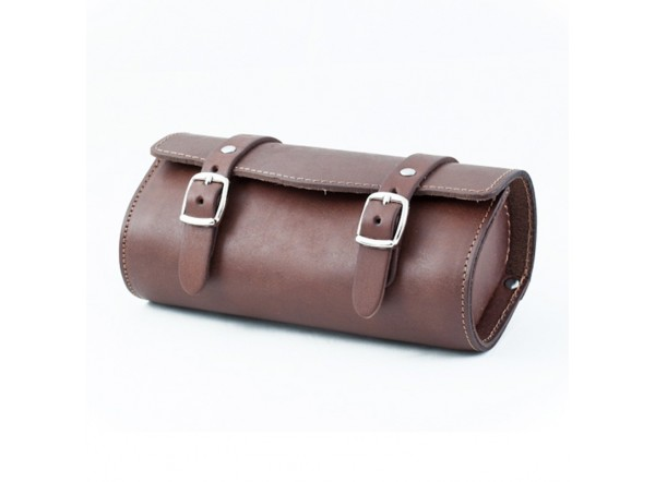 Brown leather tool bag SB-05 by Gyes