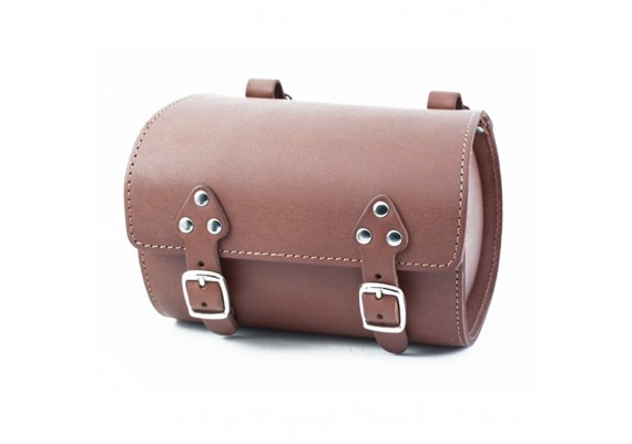 Brown leather tool bag SB-07 by Gyes