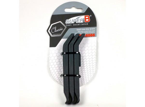 Nylon with steel core tire levers (3 pcs.)