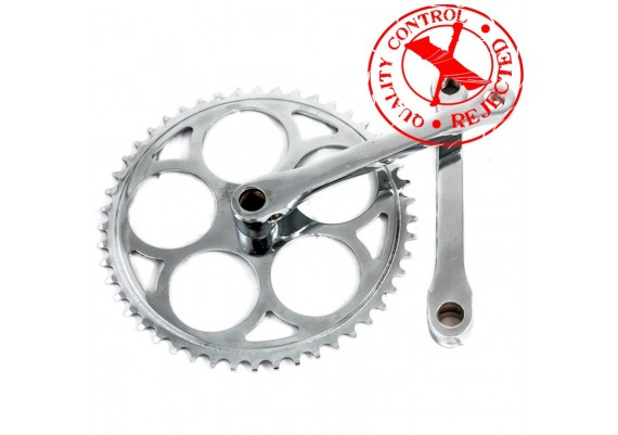 Set of 48 teeth chainring and 165mm crank arms