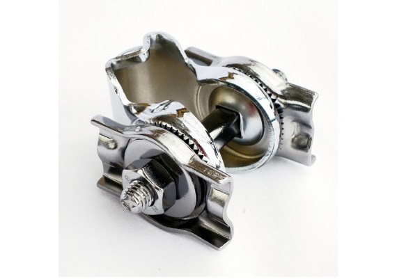Single rail chrome clamp for seatpost