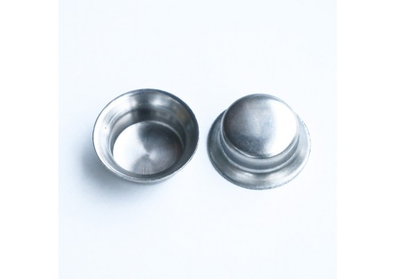 Stainless steel caps (2) for Raleigh fork